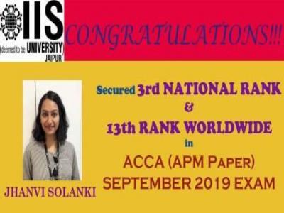 Jhanvi Solanki - Worldwide Rank Holder (ACCA)